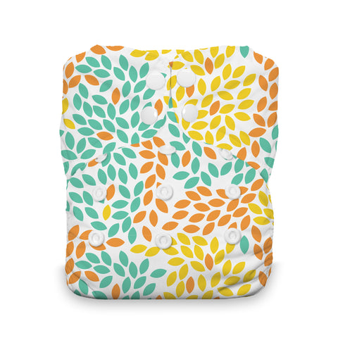 Thirsties One Size All In One Diaper, Snap, Fallen Leaves