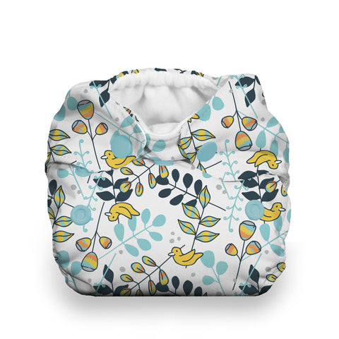 Thirsties Birdie Natural Newborn All in One Cloth Diaper - Birdie, twigs and birds