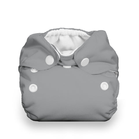 Thirsties Fin Natural Newborn All In One Cloth Diaper - Gray Grey Cloth Diaper for Newborns gender neutral ,very trendy