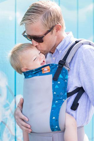Tula Coast Carrier, Blue Peaks Standard and Toddler Mesh Carrier