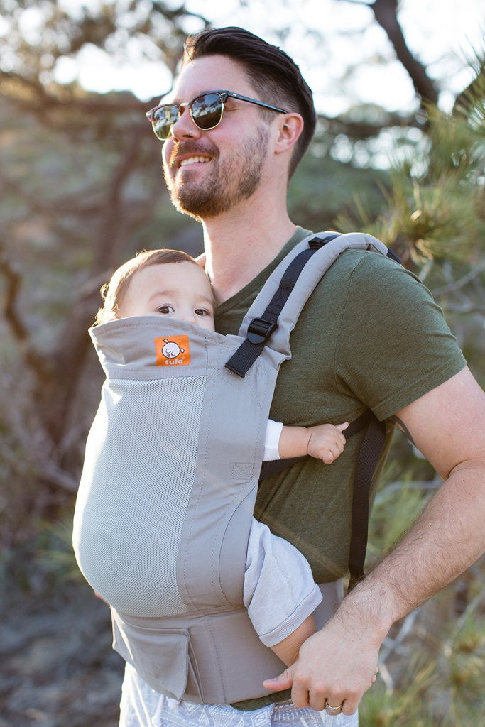 Tula Coast Carrier, Overcast Grey, Standard and Toddler Mesh Carrier