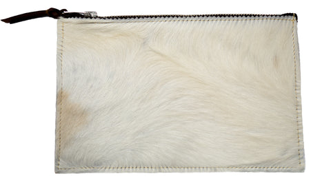 LITTLE LONSDALE MAKE-UP CASE IN TAN & NATURAL COW HIDE