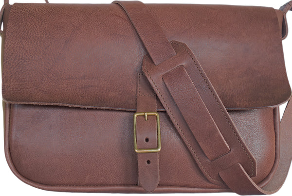 SOUTHERN CROSS SATCHEL IN CHOCOLATE