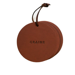 GRAINE LEATHER COASTERS