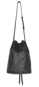 Australian made black leather cross body bag