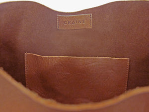 Australian made tan leather bag - inside