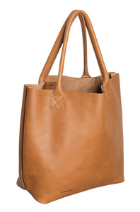 Australian made tan leather bag - side