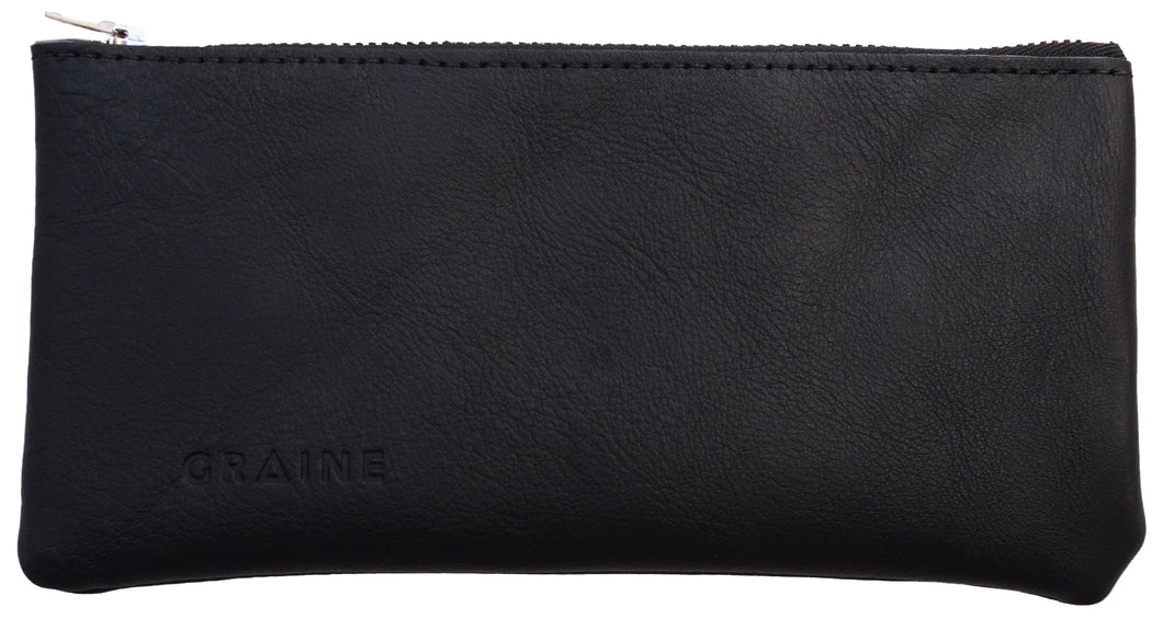 Australian made black leather wallet