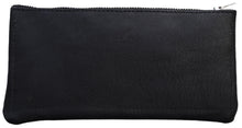 Australian made black leather wallet - back