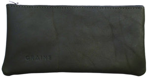 Australian made olive leather wallet - front