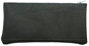 Australian made olive leather wallet -  back