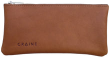 Australian made tan leather wallet - front