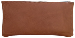 Australian made tan leather wallet - back