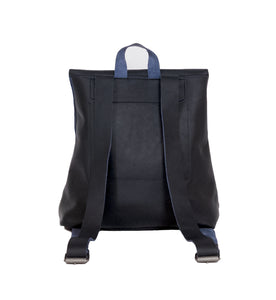 Australian made navy leather backpack - back
