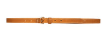 Australian made tan leather belt - front