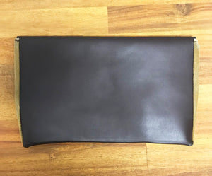 LEATHER & SUEDE CLUTCH (SAMPLE)