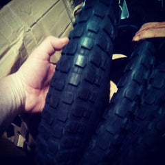 "24"" Knobby Tyre - Berm Master 3 inch wide with tube"