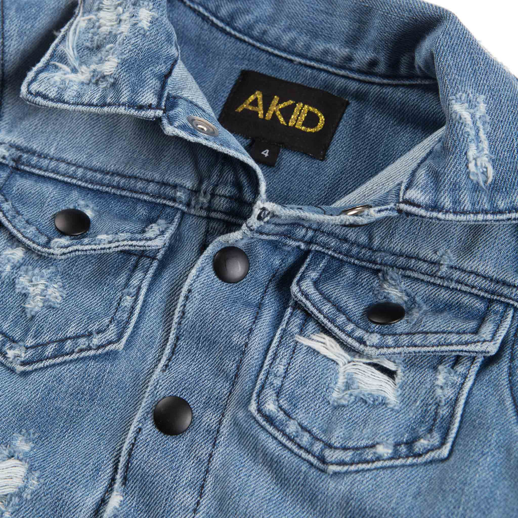 AKID Laser Cut Denim Jacket