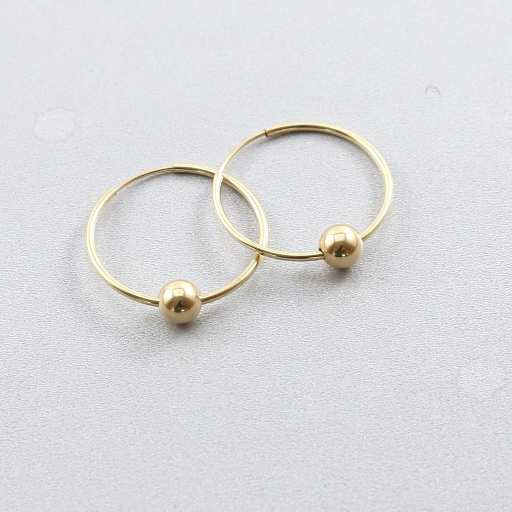 Mia Hoop Ball Earrings
