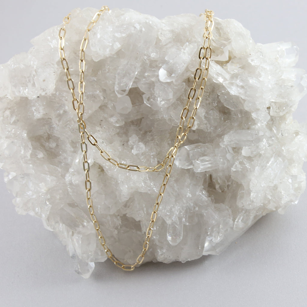 Kali Thick Rectangle Chain Necklace