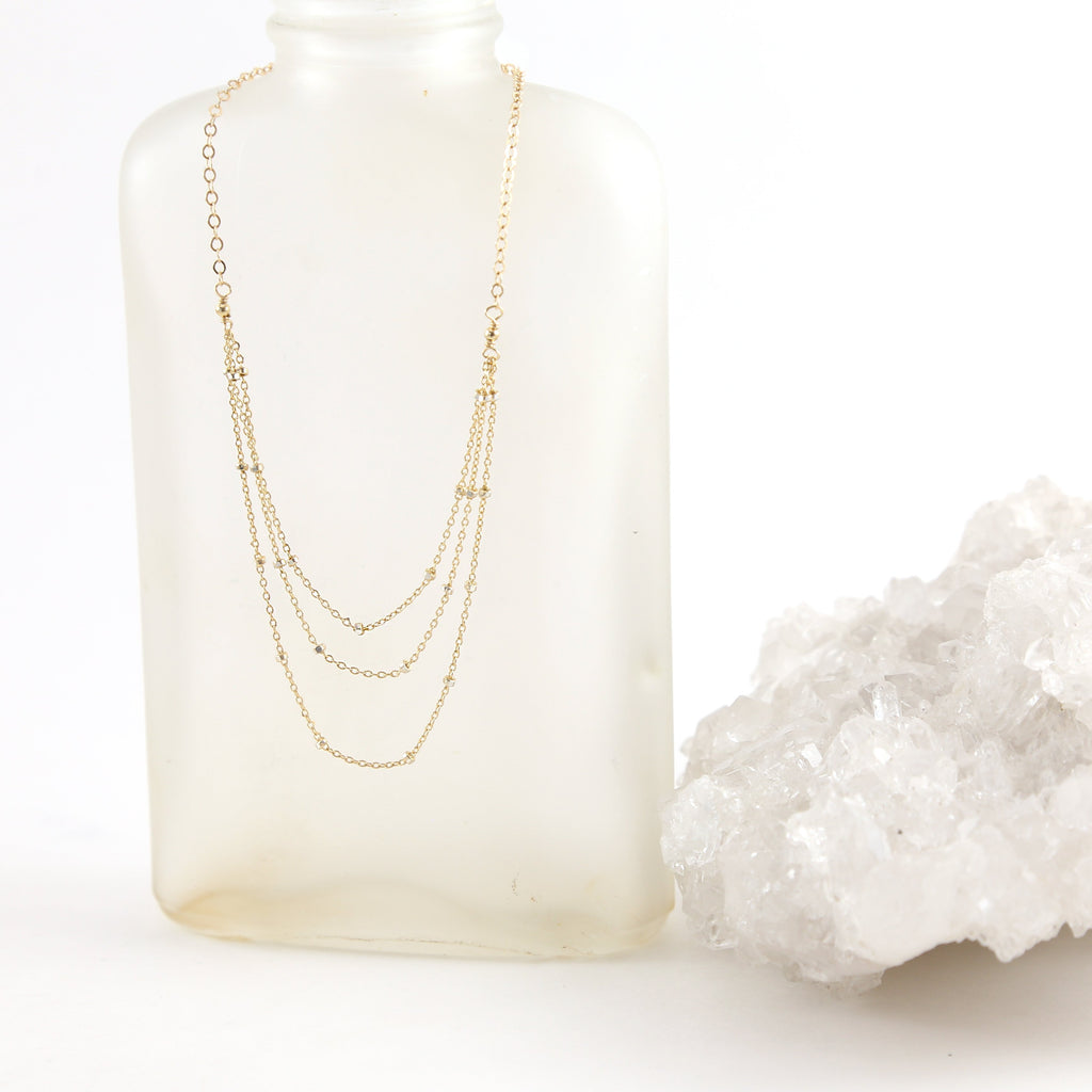 Layered Shimmer Chain Necklace