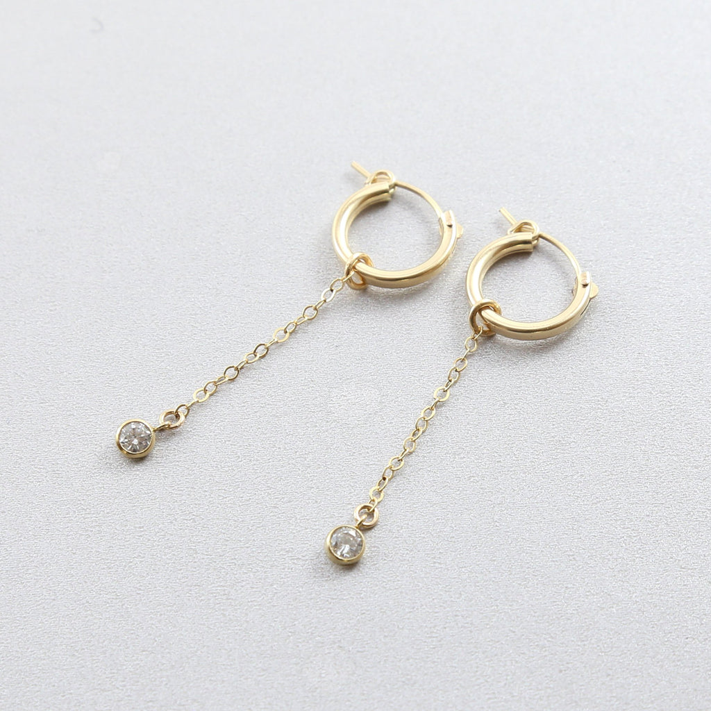 Cierra CZ Little Hoop Earrings