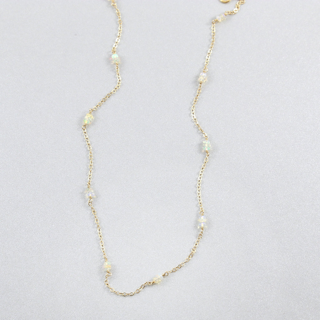 Maddie Opal Chain Choker Necklace