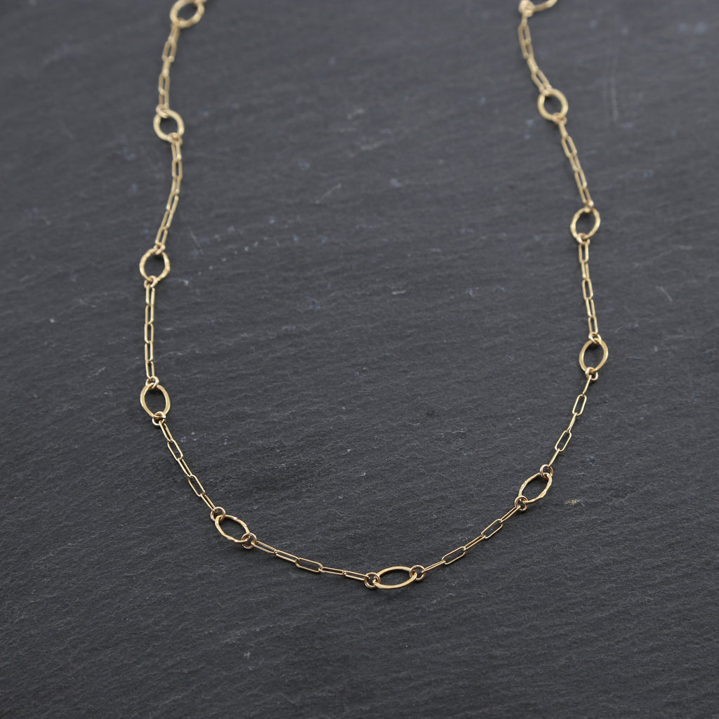 Oval Sparkle Layering Necklace