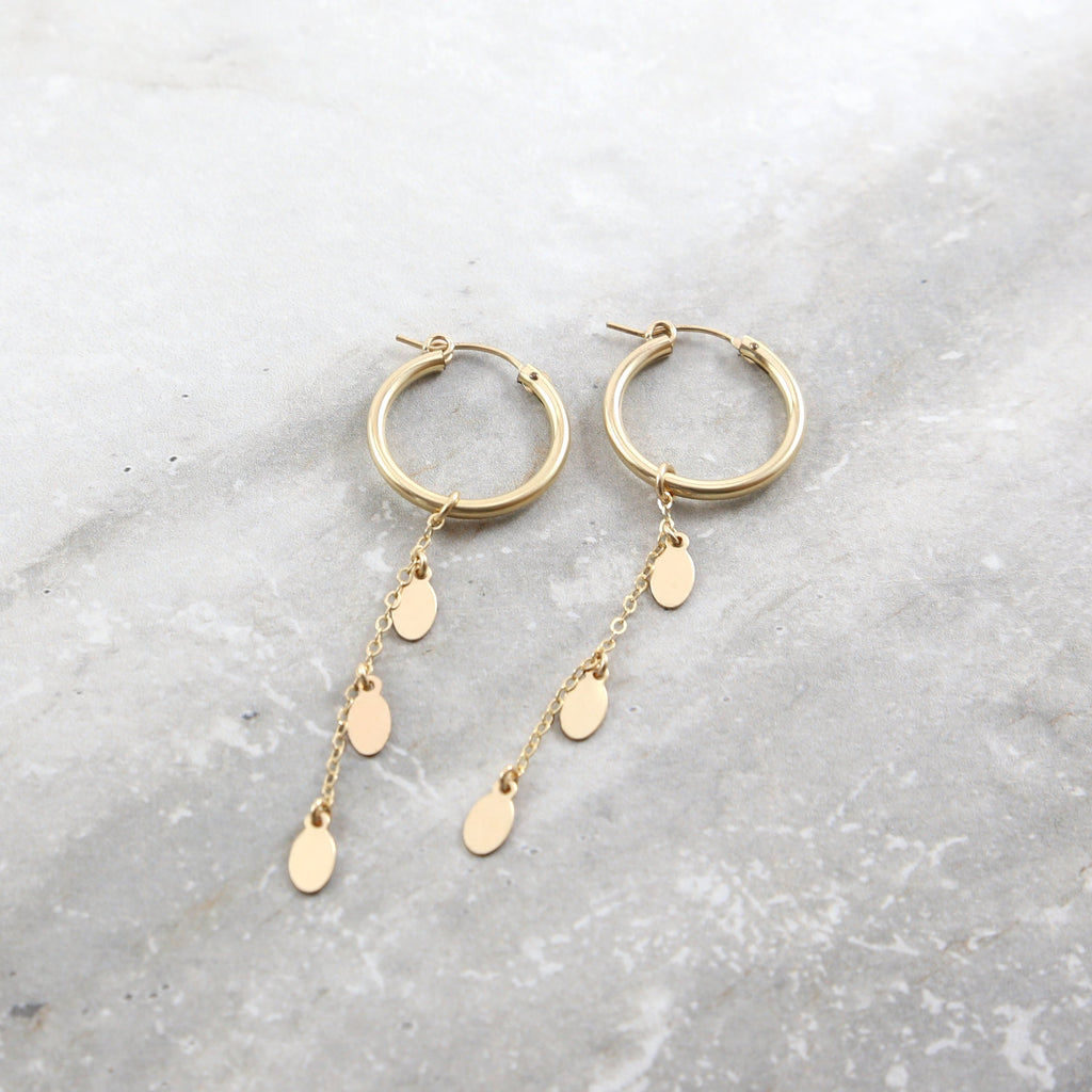 Petals Dangle Hoop Earrings