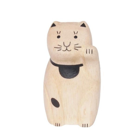 T-lab polepole ENGIMON Wooden box packing Beckoning cat
