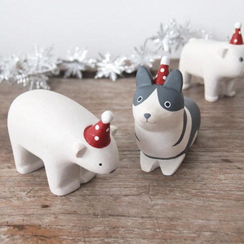 T-lab polepole animal Christmas Corgi