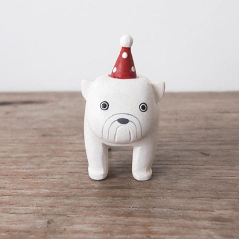 T-lab polepole animal Christmas bulldog