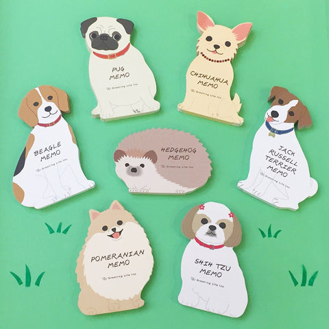 Greeting Life Animal Die Cut Memo ETN-74