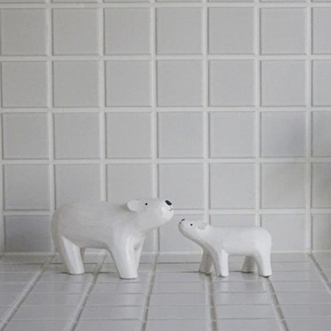 T-lab polepole animal parent and child Polar bear parent