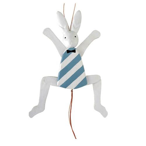 T-lab Rabbit of the wonderland Hampelmann Rabbit/White
