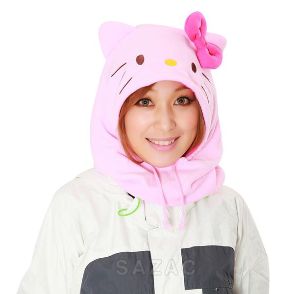 SAZAC Hello Kitty Pink Kigurumi Neck Warmer