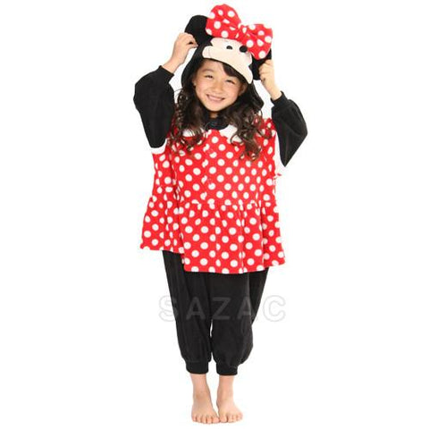 SAZAC Minnie Mouse Kigurumi for Kids
