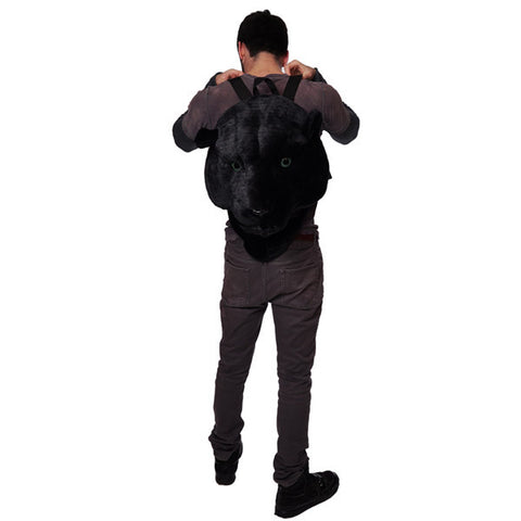Animal Head Backpack Black Panther Head Backpack
