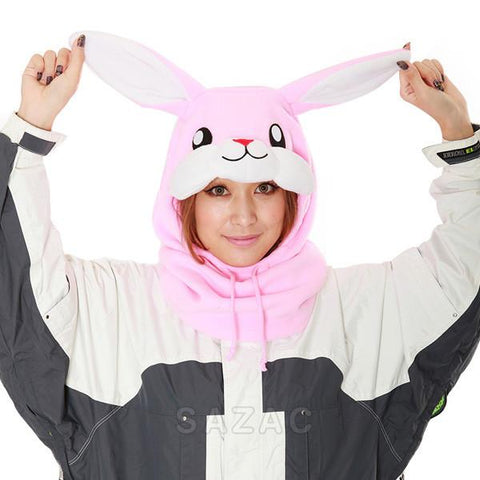 SAZAC Rabbit Kigurumi Neck Warmer