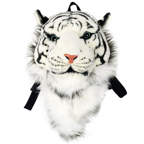 Animal Head Backpack White Tiger Head Backpack
