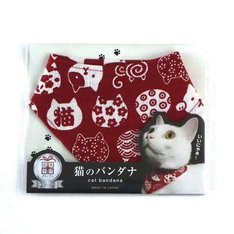COCOLUCK  Cat Bandana CO-6197-REDCAT