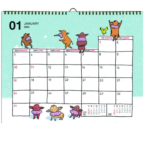 Greeting Life Wall Calendar 2021 C-1274-JF