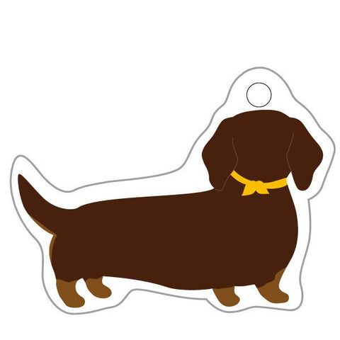 Greeting Life Animal Die Cut Curtain MINIATURE DACHSHUND ETN-101