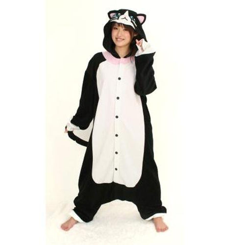 SAZAC Black Cat Kigurumi for Kids