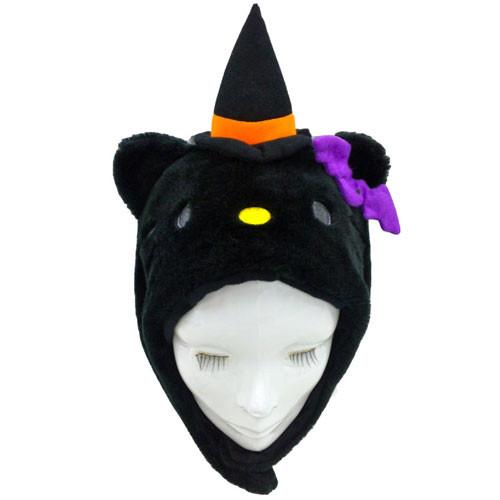 SAZAC Hello Kitty Halloween Black Kigurumi Cap
