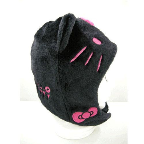 SAZAC Hello Kitty Black Kigurumi Cap