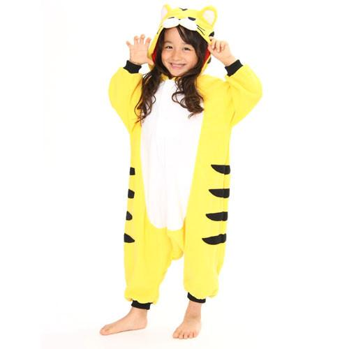 SAZAC Yellow Tiger Kigurumi for Kids