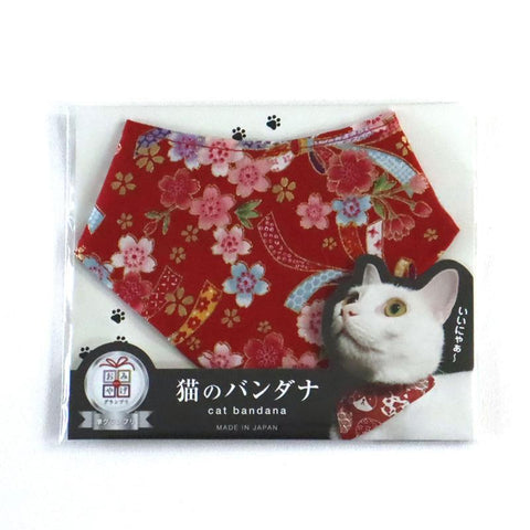 COCOLUCK  Cat Bandana CO-6197-REDCHERRY