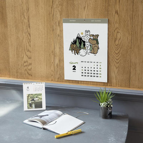 Greeting Life Header Calendar 2021 C-1288-NH