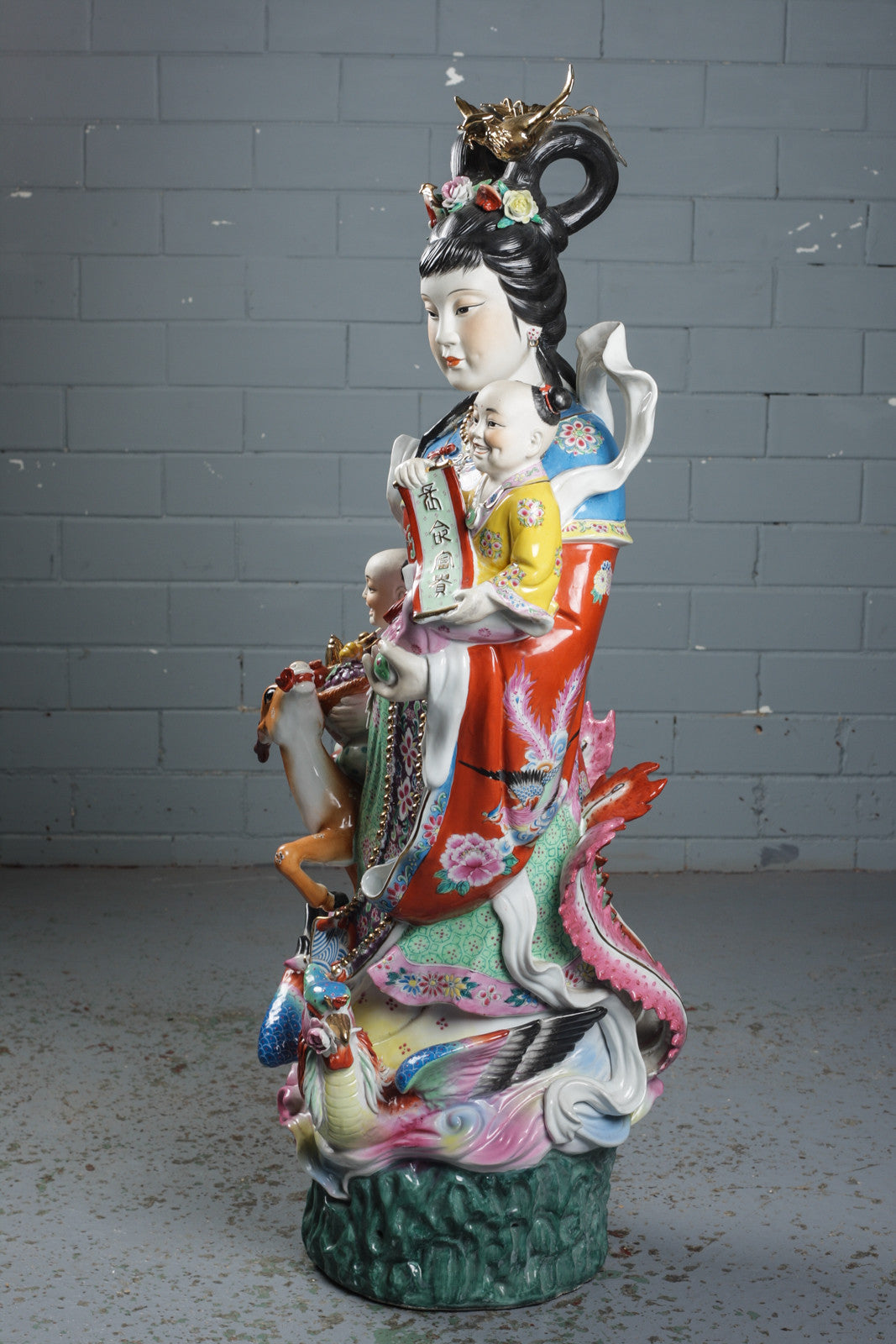 Chinese porcelain figures available to buy from Industrious Interiors, an online vintage furniture and homeware store, based in Nottingham, England.